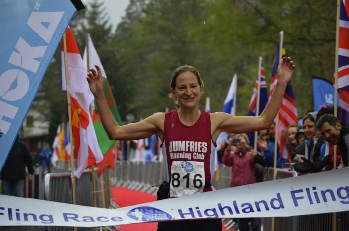 Jo Zakrzewski winning 2014 Hoka Highland Fling