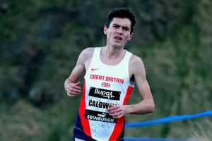Luke Caldwell in cross country race