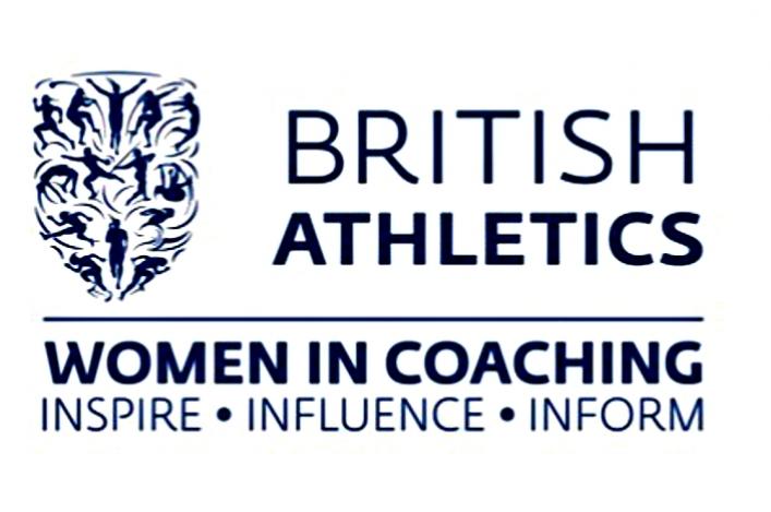 Logo for British Athletics Women in Coaching.