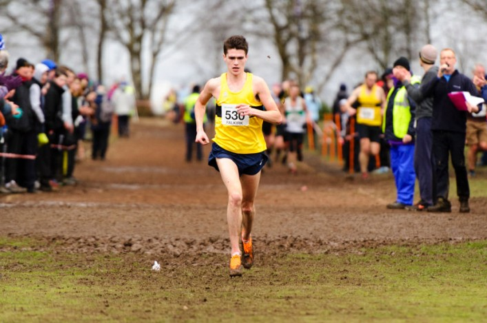 Callum Hawkins in cross country at Callander