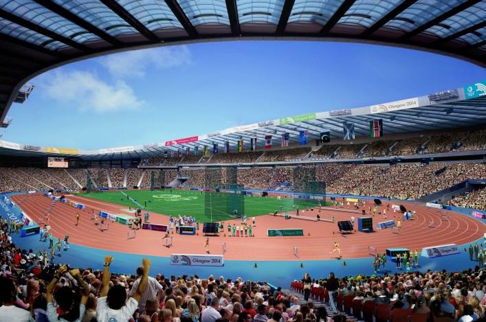 Hampden Stadium architect's impression