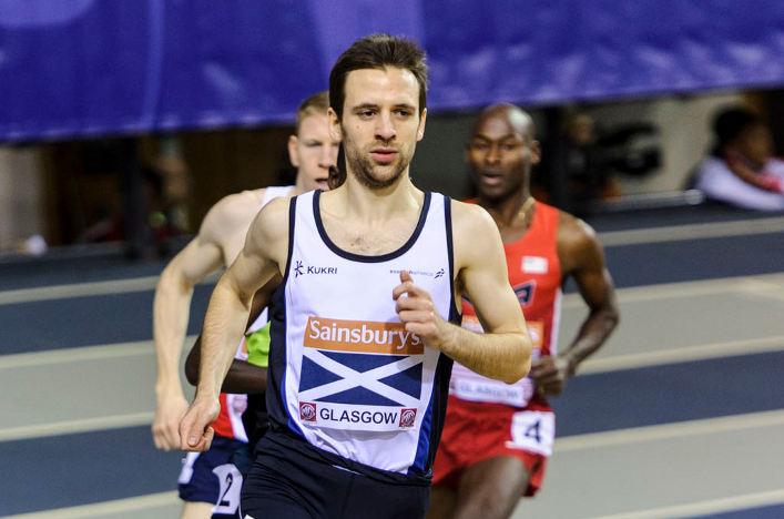 Mark Mitchell running indoors