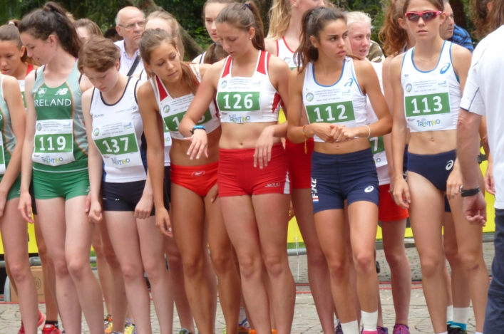 Start Line at the World Mountain Running Association International Youth Cup