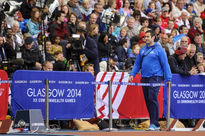 Angus McInroy walks on track at Hampden
