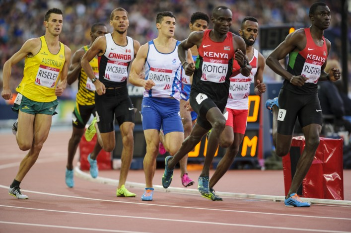 David Rudisha leads from front in 800m semi at Hampden