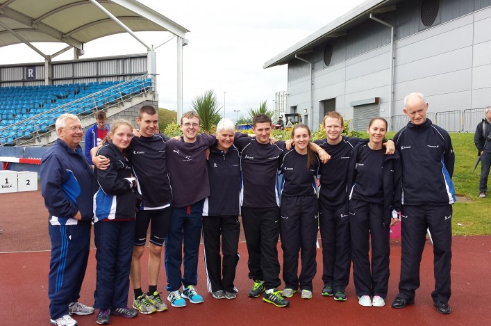 Scotland team of Para athletes at Mencap Champs in July 2014
