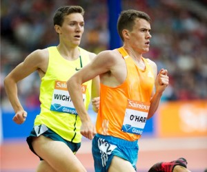 Chris O'Hare and Jake Wightman at Hamdpen in 1500m race