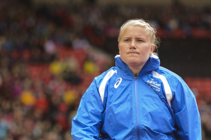 Hammer thrower Susan McKelvie at Hampden