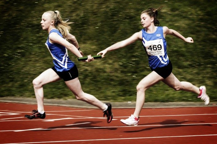 Grab the baton - youngsters from Kilmarnock Harriers