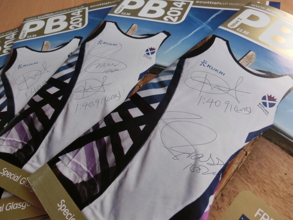 Autographed copies of PB magazine