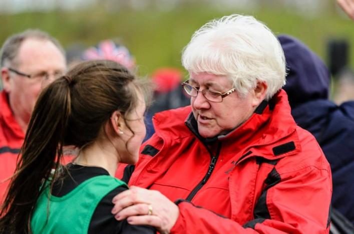 Joyce Hogg coaching Rhona Auckland