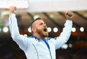 Mark Dry celebrates bronze medal success at Hampden in Commonwealth Games