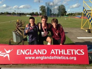Three Scottish lads celebrate CE success in England