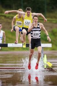 Ryan McKinlay wins the steeplechase