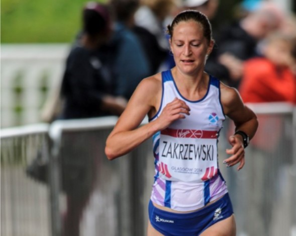 Joasia Zakrzewski at the glasgow 2014 marathon