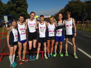 Scotland athletes in Dublin in August 2014