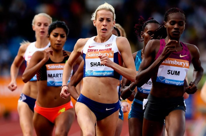 Lynsey Sharp at Birmingham Grand Prix win