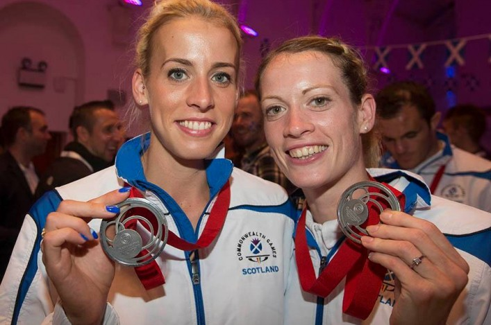 Lynsey Sharp and Eilidh Child with Commonwealth medals