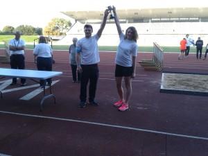 Team Edinburgh lift the trophy
