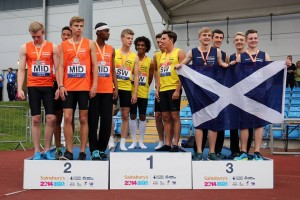 UK School Games - Scotland 4 x 400m Boys