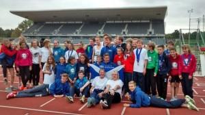 Edinburgh AC athletes celebrate in Birmingham after YDL success