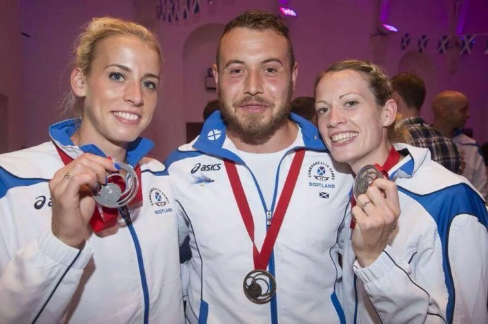 Lynsey Sharp, Mark Dry and Eilidh Child