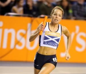 Kelsey Stewart in relay action