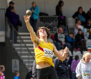 George Evans: shot putt best