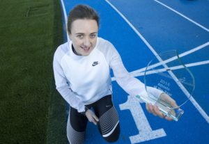 01/11/16.... SCOTSTOUN - GLASGOW Scottish athlete Laura Muir collects her scottish Athlete of the year