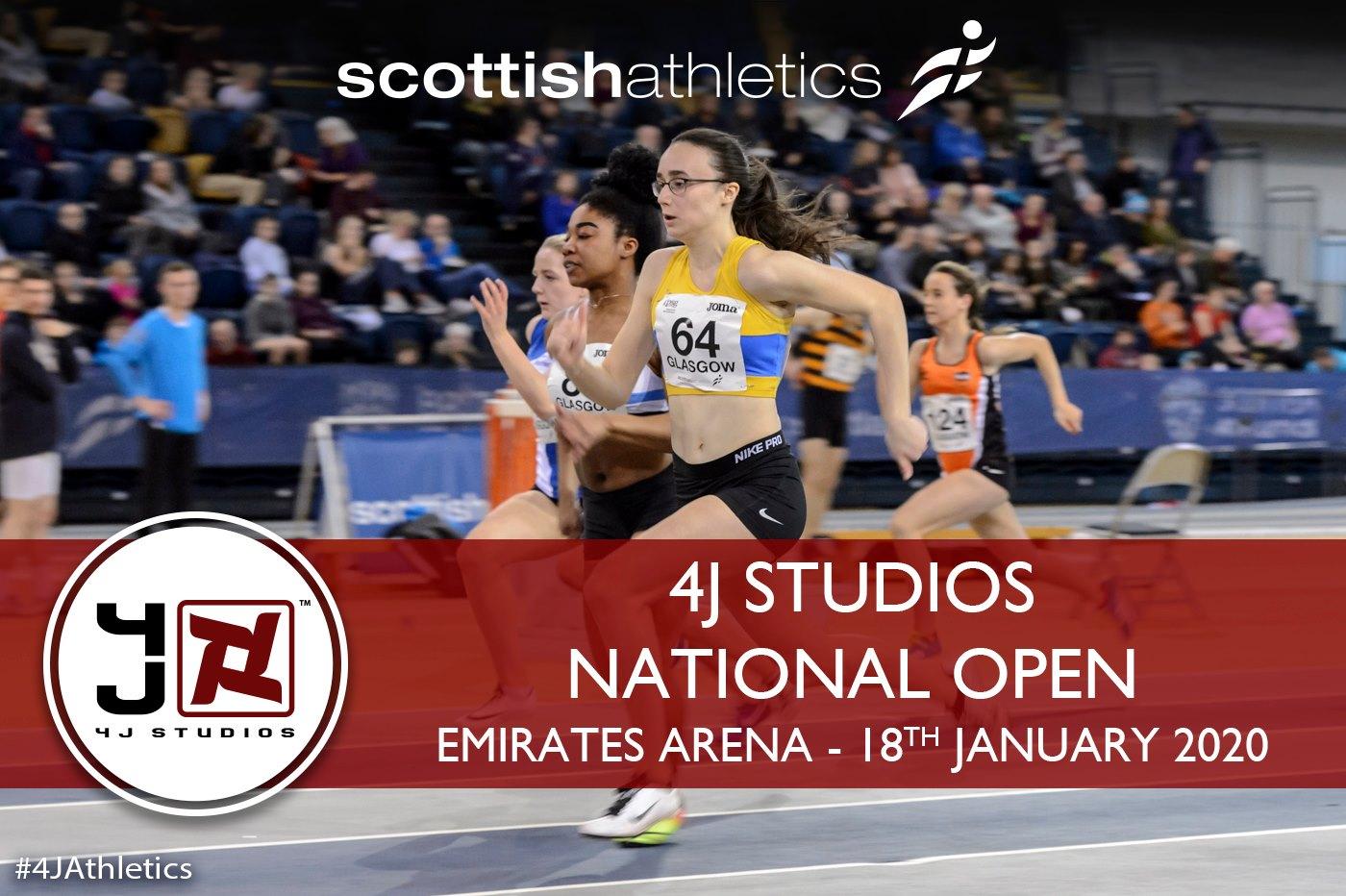 Hundreds ready for 4J Studios National Open - Scottish Athletics